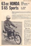 HONDA - S65 SPORTS - 1965 - ROAD TEST - RT8